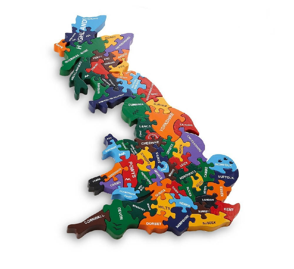 Wooden Map of Britain
