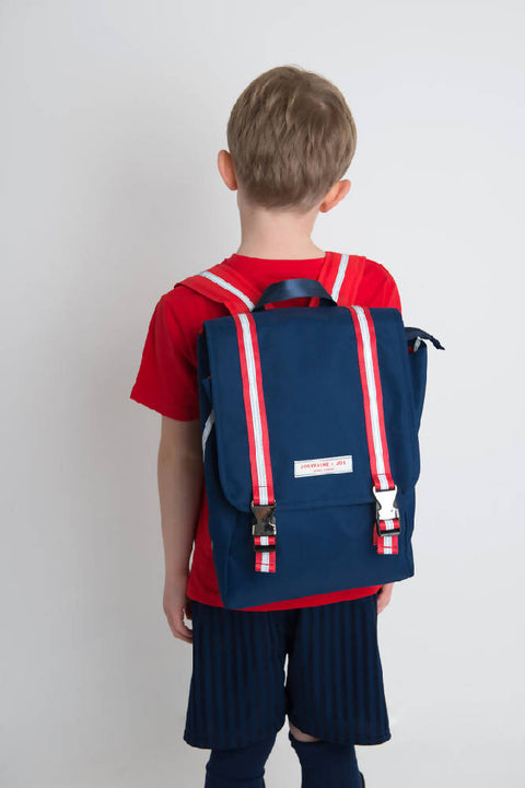 & Joe Backpack Navy with Red Strap