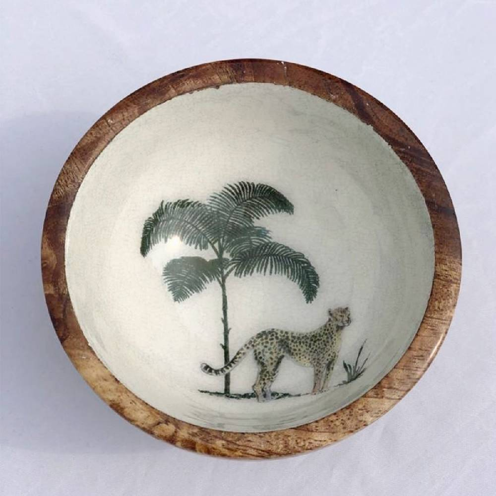 Out of Africa Wooden Nibble Bowl