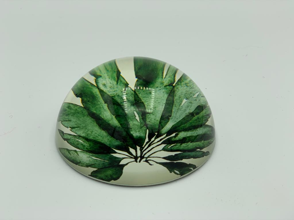 Banana Leaves Glass Paper Weight