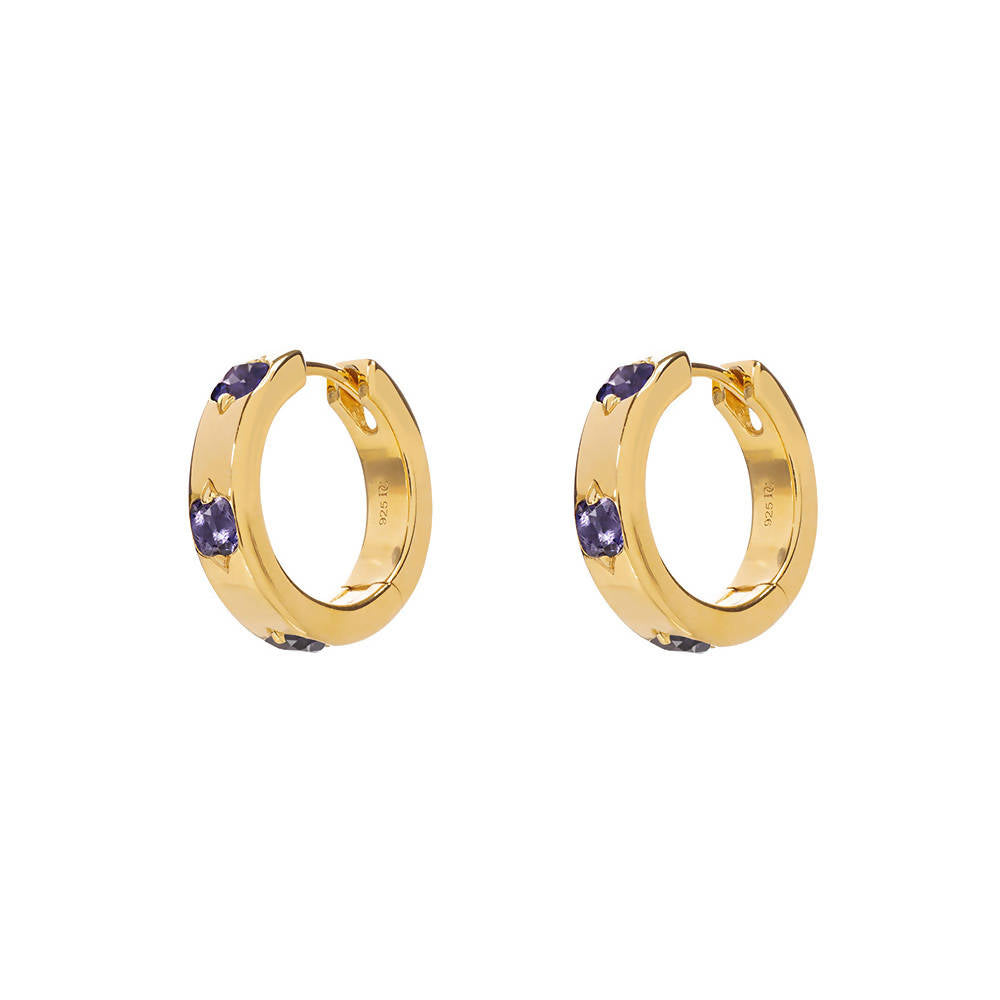 Willow Hoops with Iolite