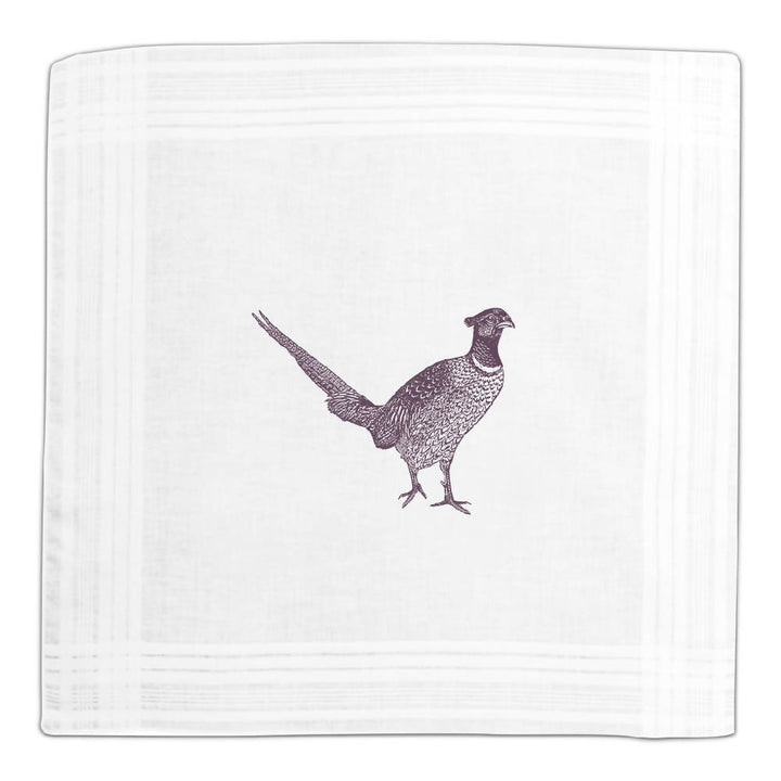 Pheasant Hanky Box - Purple