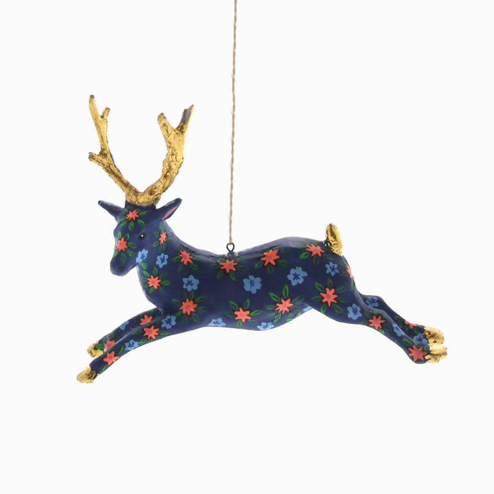 Patterned stag decoration