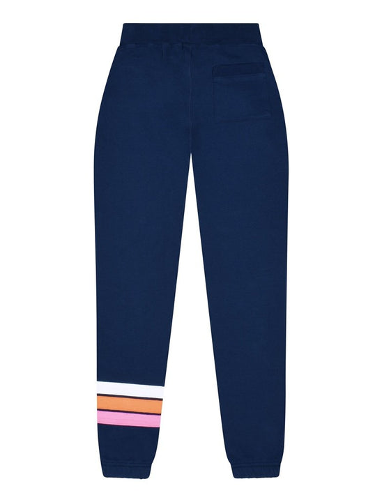 Kids Cinched Applique Sweatpants - Dress Blue/White/Orange/Pink