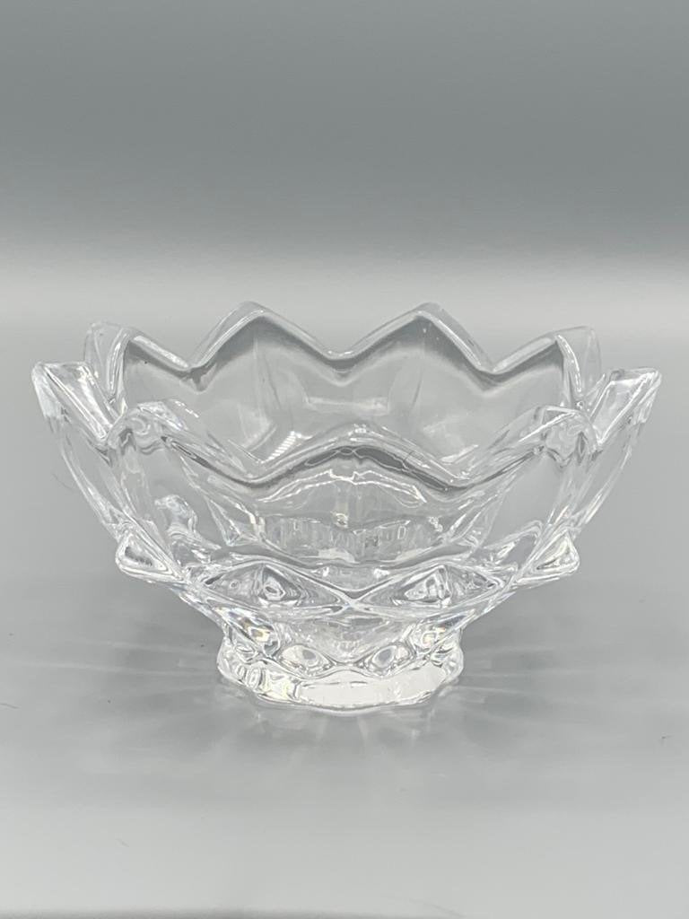 Jagged Edge Glass Candle Holder