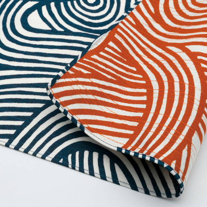 104cm Isa Monyo Reversible Furoshiki | Knot Blue/Orange