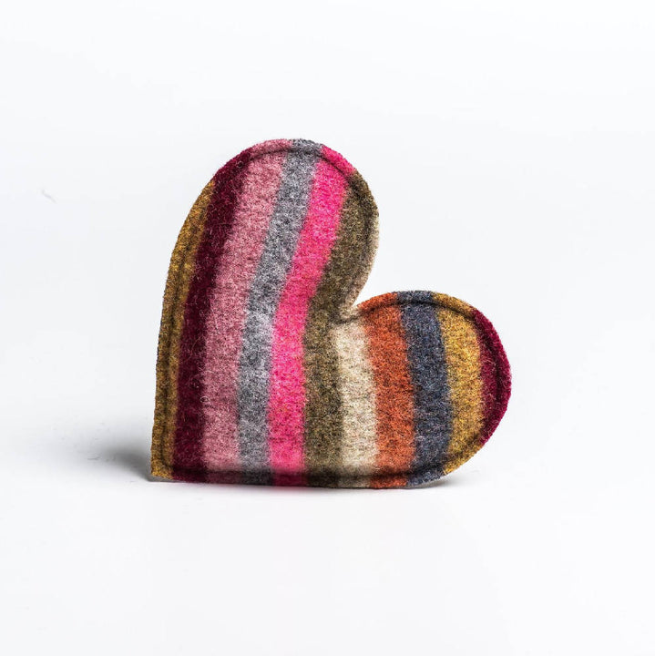 Merino Lambswool lavender filled heart