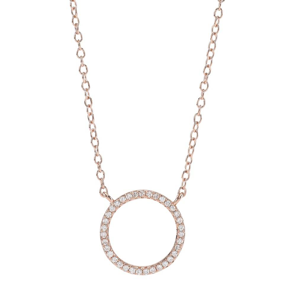18ct Rose Gold Plated Circle of Life Necklace