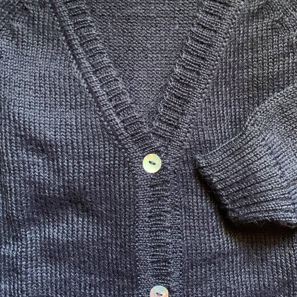 Cardigan, Classic V Neck in French Navy