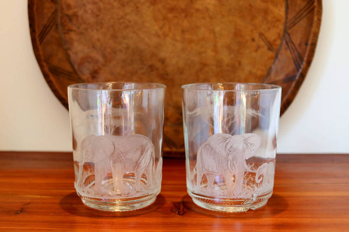 Pair of Small Elephant Vase/Candle Holders