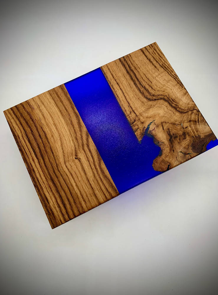 Royal Blue Resin Chopping Board