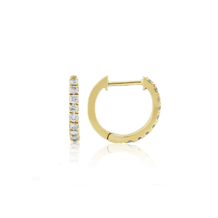 Dovehouse Gold Vermeil and Cubic Zirconia Hoop Earrings
