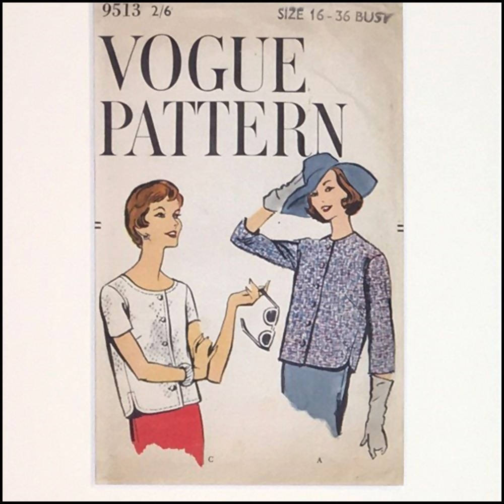 Vogue 1950s Pattern Sleeve