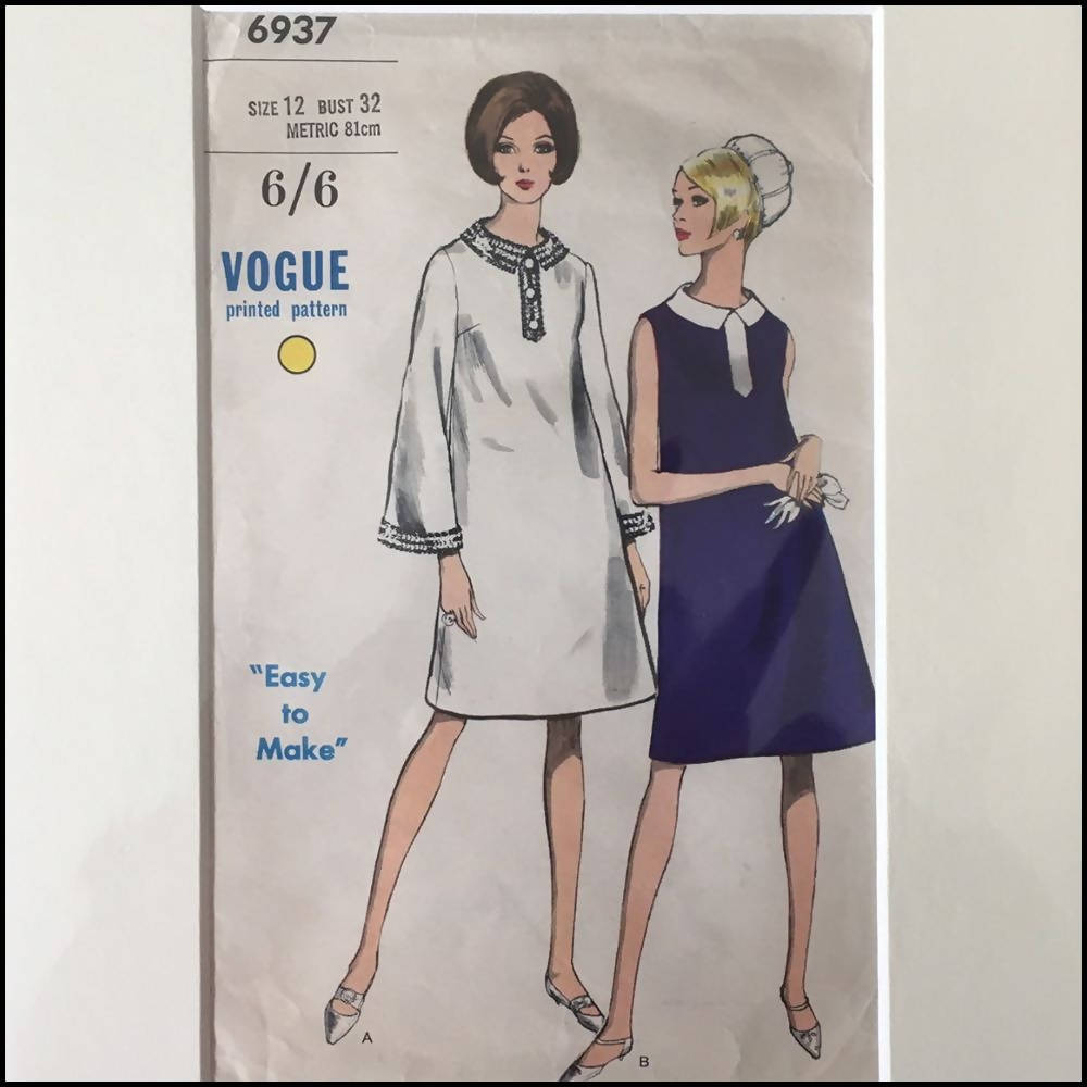 Vogue 1960s Pattern Sleeve