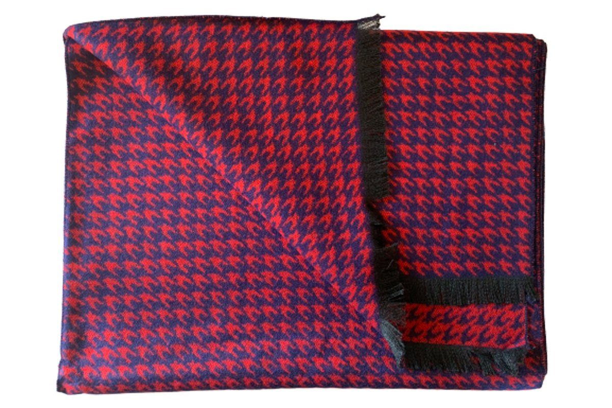 Red Houndstooth Bamboo Scarf