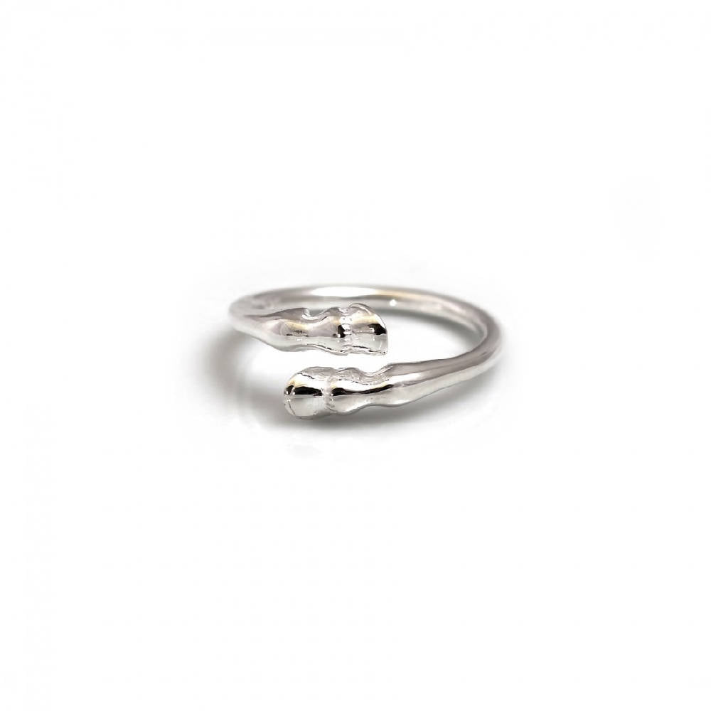 Sterling Silver Hoof Ring
