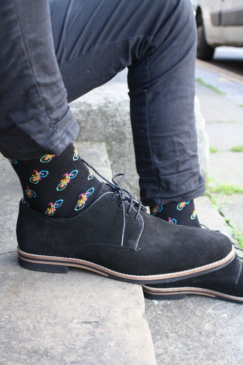 Black Bicycle Bamboo Socks