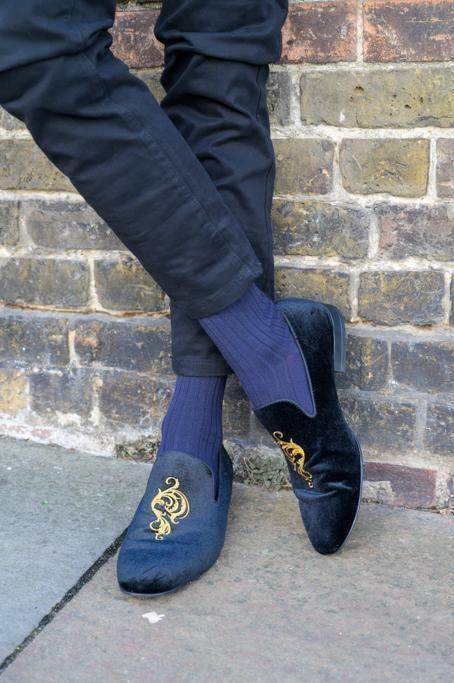 Navy Bamboo Socks