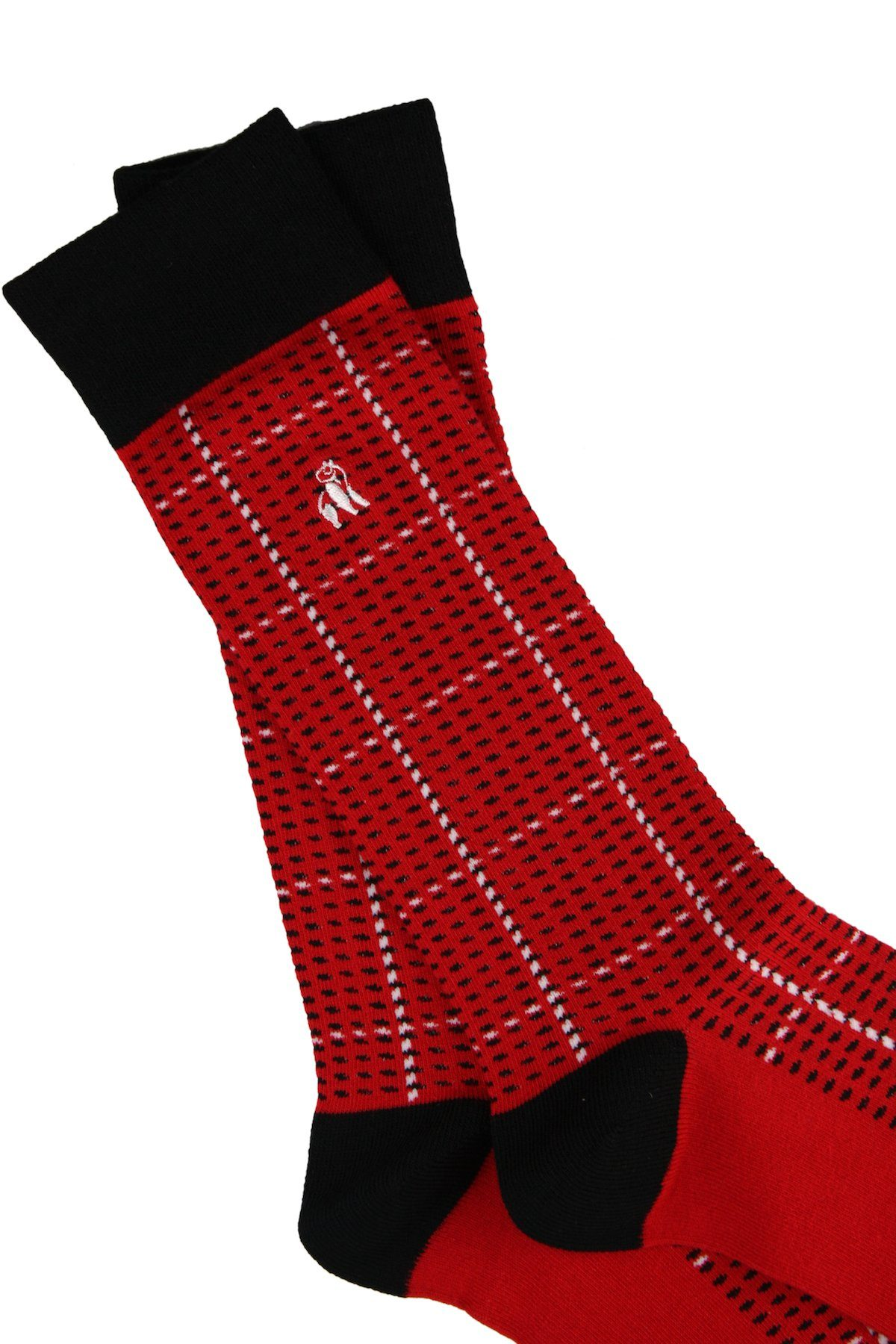 Red and Black Check Bamboo Socks