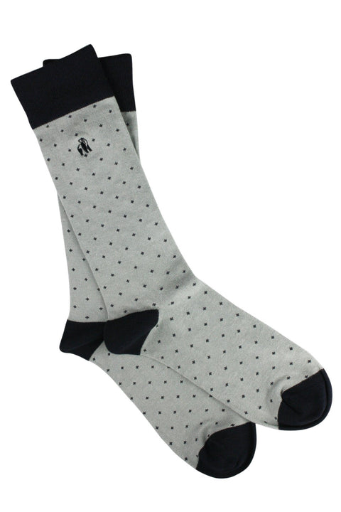 Spotted Grey Bamboo Socks