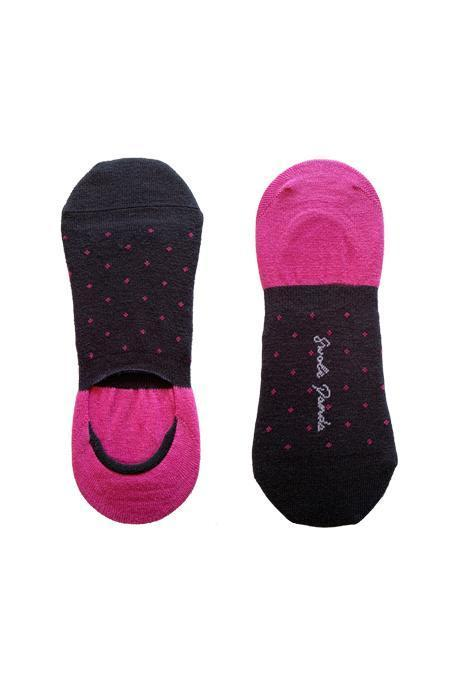 "Spotted Pink ""No-Show"" Bamboo Socks"
