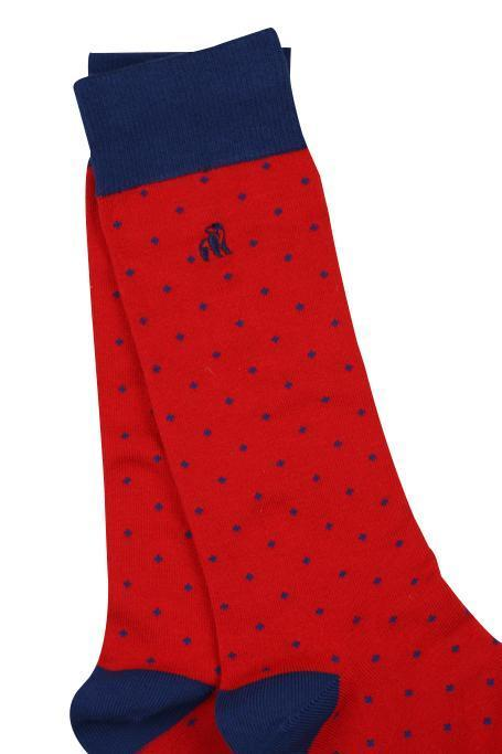 Spotted Red Bamboo Socks