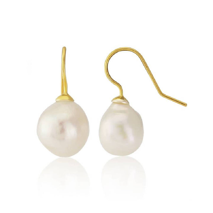 Triora White Freshwater Pearl Drop Earrings