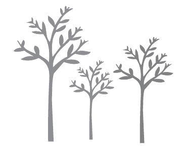 Three Trees Wall Sticker Set