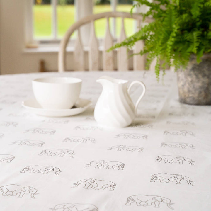 Grey Elephant Table Cloth