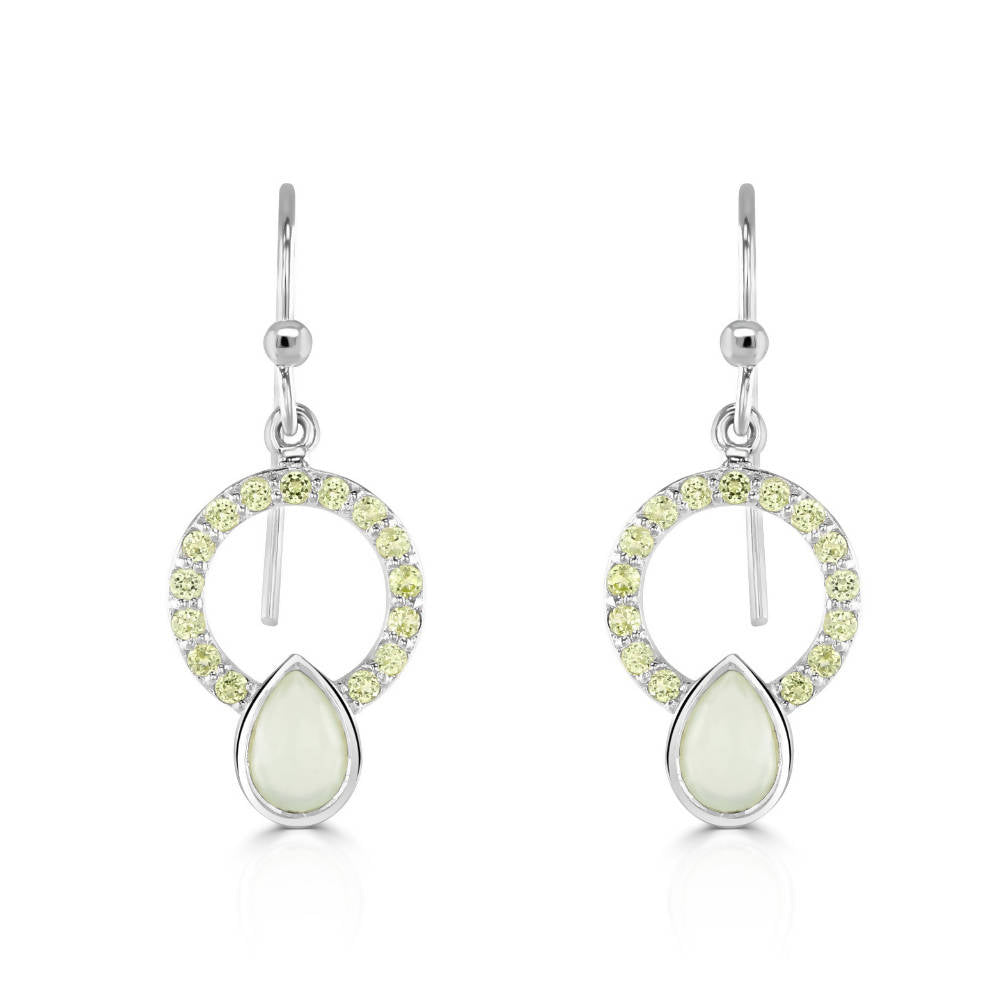 Allegra Silver Peridot Earrings