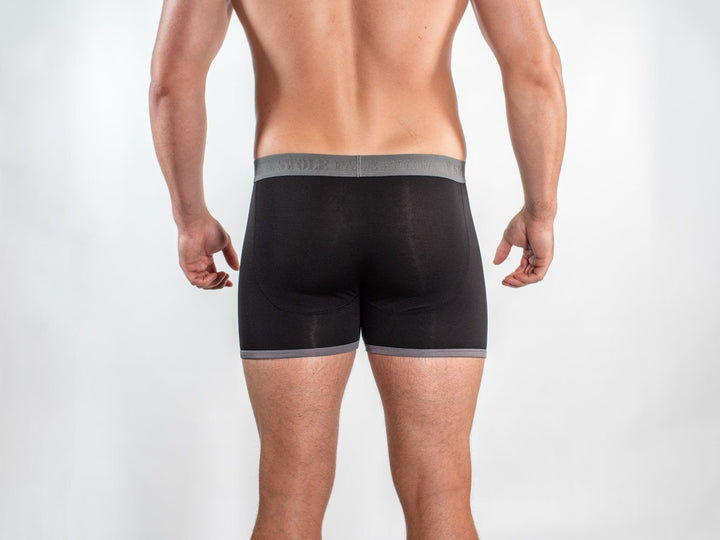 Bamboo Boxers - Black / Grey Band