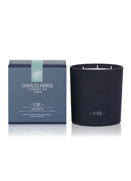 Elizabeth Three Wick Scented Candle | Orange Blossom, Jasmine & Mulberry