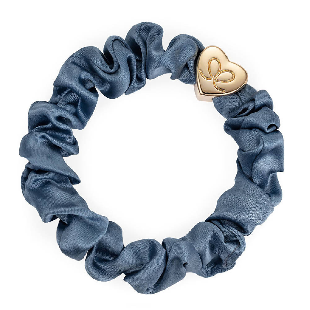 Silk Scrunchie Faded Denim