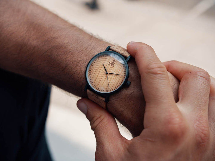 Cork and Bamboo Watch