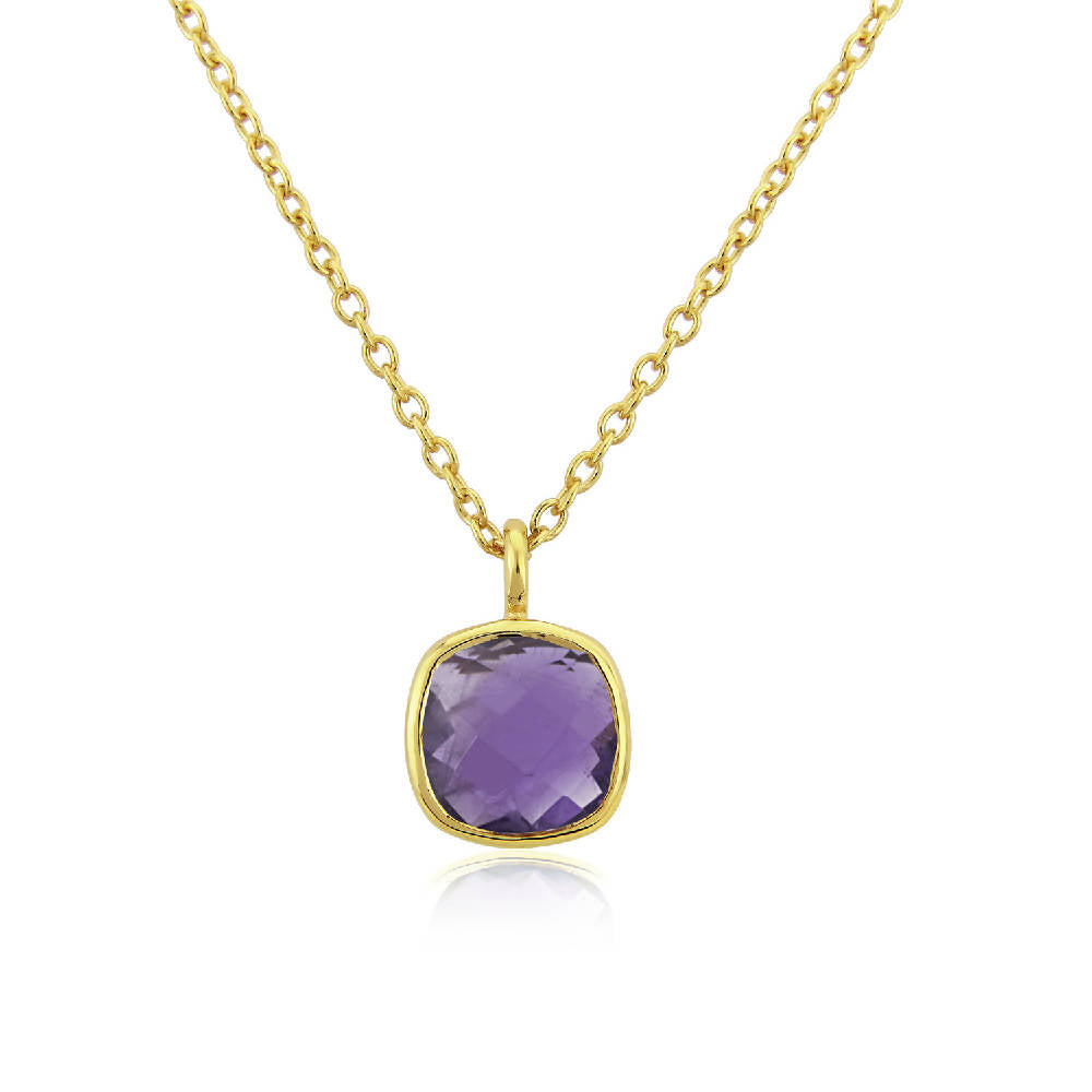 Brooklyn Gold Vermeil and Amethyst Gemstone Necklace