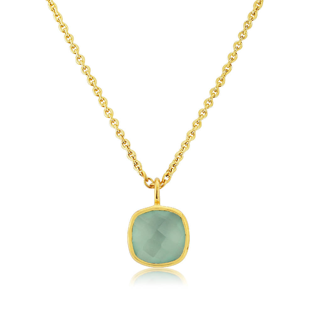 Brooklyn Gold Vermeil and Chrysoprase Gemstone Necklace