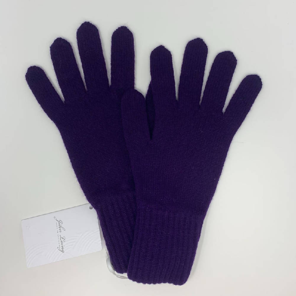 Ladies Deep Purple Gloves