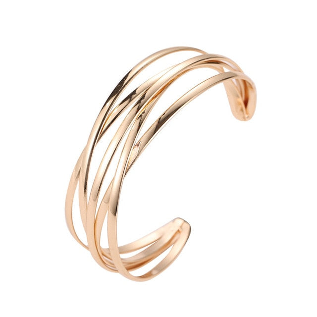 Hollow Adjustable Cuff Bangle Bracelet