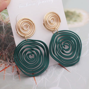 Big Round Drop Earrings