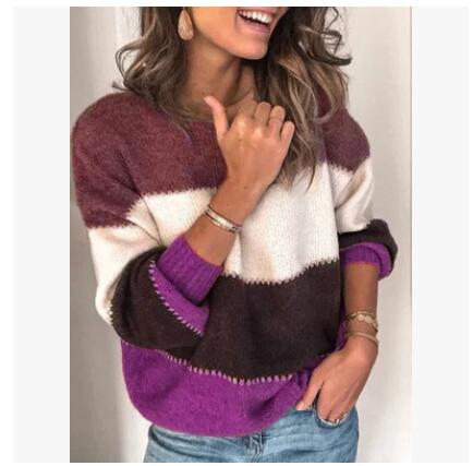 Striped Casual Knit Sweater