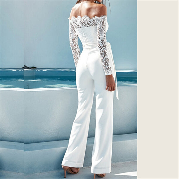 Floral Lace Long Sleeve Jumpsuit