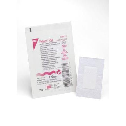 3M™ Medipore™ +Pad Soft Cloth Adhesive Wound Dressing-3M Health Care-Medi-Wheels
