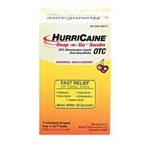 Beutlich Hurricaine® Topical Anesthetic Snap -N- Go™ Swabs-Beutlich LP Pharmaceuticals-Medi-Wheels