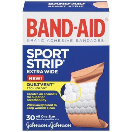 J&J Band-Aid® Sport Strip® Adhesive Bandages-Johnson & Johnson Consumer Products-Medi-Wheels