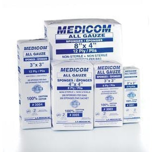 Medicom All Gauze Sponges - Non Sterile-Medicom, Inc.-Medi-Wheels
