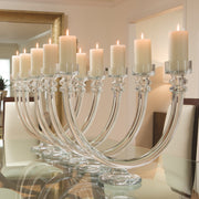 Two Light Glass Tube Candelabra