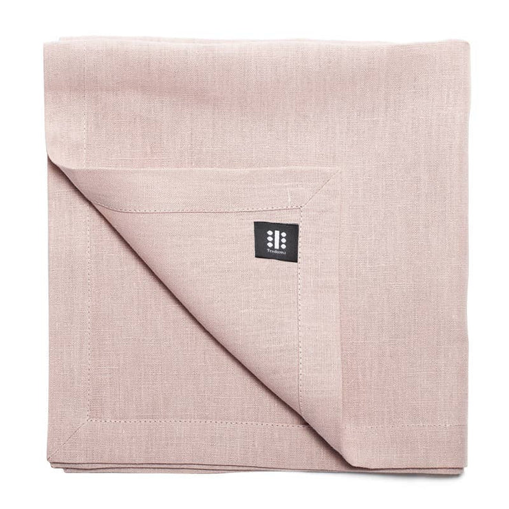 Set of 4 - Linen Dinner Napkins - Rose