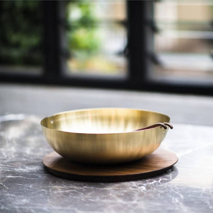 Large Spun Brass Bowl