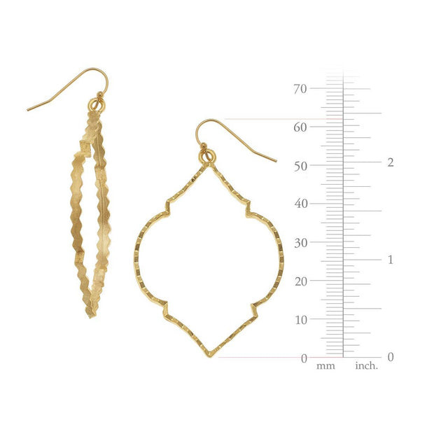 Gold Scallop Earrings