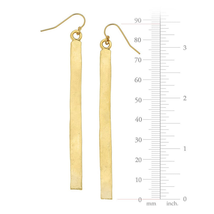 Gold 3Bar Earrings